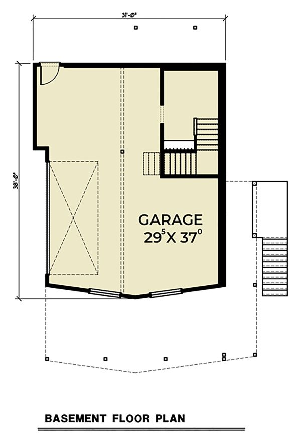 Cottage Floor Plan - Lower Floor Plan Plan #1070-57