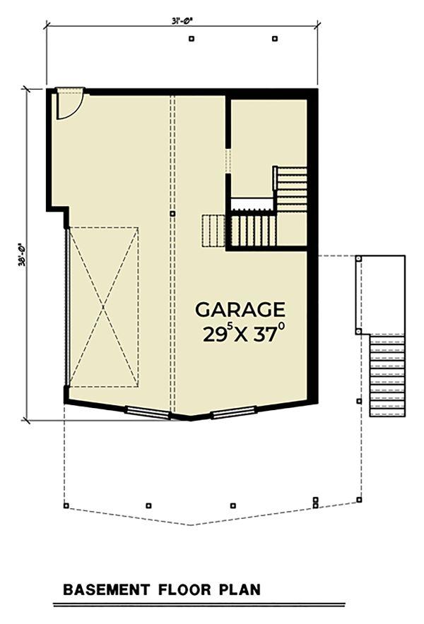 Dream House Plan - Cottage Floor Plan - Lower Floor Plan #1070-57