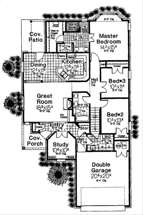 European Floor Plan - Main Floor Plan Plan #310-681