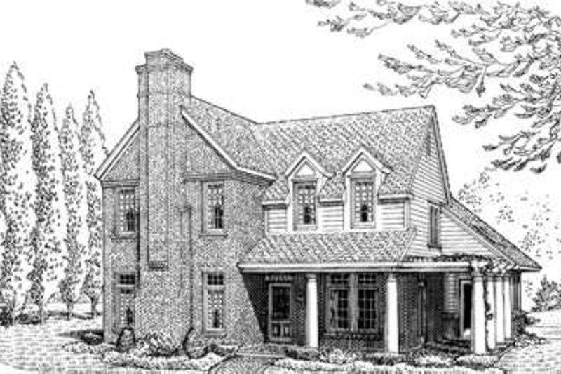 Dream House Plan - Farmhouse Exterior - Front Elevation Plan #410-278