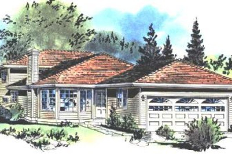 House Blueprint - Traditional Exterior - Front Elevation Plan #18-229