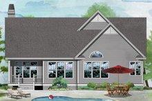 Ranch Exterior - Rear Elevation Plan #929-558