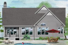 Architectural House Design - Ranch Exterior - Rear Elevation Plan #929-558