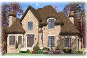 European Style House Plan - 3 Beds 2.5 Baths 2353 Sq/Ft Plan #138-116 Exterior - Front Elevation