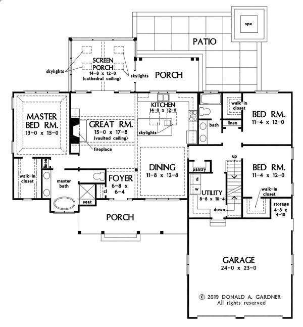 House Plan Design - Basement Stair Location