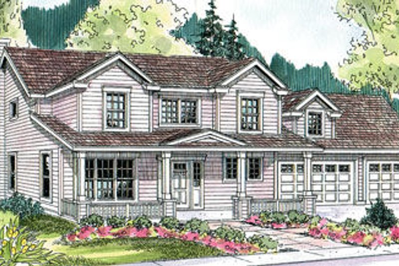 House Plan Design - Traditional Exterior - Front Elevation Plan #124-627