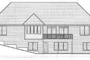 European Style House Plan - 3 Beds 2 Baths 2341 Sq/Ft Plan #46-352 Exterior - Rear Elevation