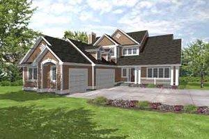 Craftsman Exterior - Front Elevation Plan #50-239