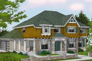 Craftsman Exterior - Front Elevation Plan #100-211