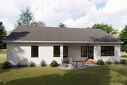 Farmhouse Style House Plan - 3 Beds 2.5 Baths 1906 Sq/Ft Plan #455-222 Exterior - Rear Elevation