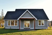 Ranch Style House Plan - 3 Beds 2.5 Baths 2004 Sq/Ft Plan #1070-28 Exterior - Rear Elevation
