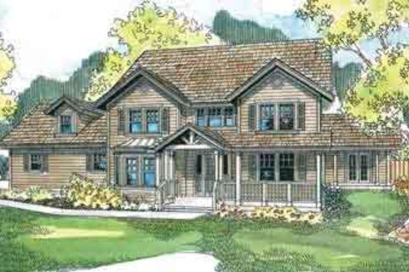 Craftsman Exterior - Front Elevation Plan #124-537