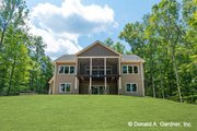 Traditional Style House Plan - 4 Beds 4 Baths 2607 Sq/Ft Plan #929-980 Exterior - Rear Elevation