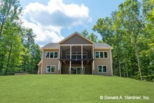 Home Plan - Traditional Exterior - Rear Elevation Plan #929-980