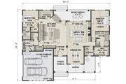 Farmhouse Style House Plan - 4 Beds 3.5 Baths 2751 Sq/Ft Plan #51-1140 Floor Plan - Main Floor