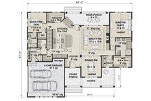 Farmhouse Floor Plan - Main Floor Plan Plan #51-1140