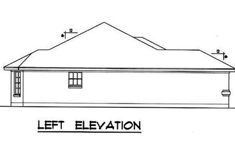 Traditional Exterior - Other Elevation Plan #40-282 - Houseplans.com