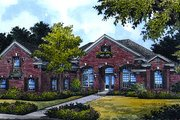European Style House Plan - 4 Beds 4 Baths 2713 Sq/Ft Plan #417-318 Exterior - Front Elevation