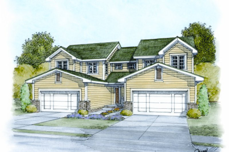 Dream House Plan - Traditional Exterior - Front Elevation Plan #20-2064