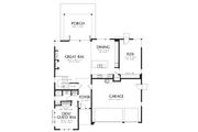 Contemporary Style House Plan - 3 Beds 3 Baths 2939 Sq/Ft Plan #48-707 Floor Plan - Main Floor