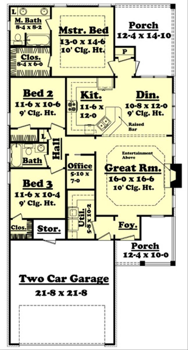 Country Floor Plan - Main Floor Plan Plan #430-51