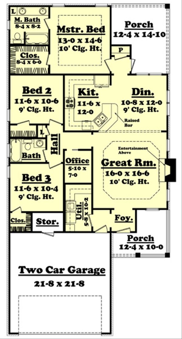 House Plan Design - Country Floor Plan - Main Floor Plan #430-51