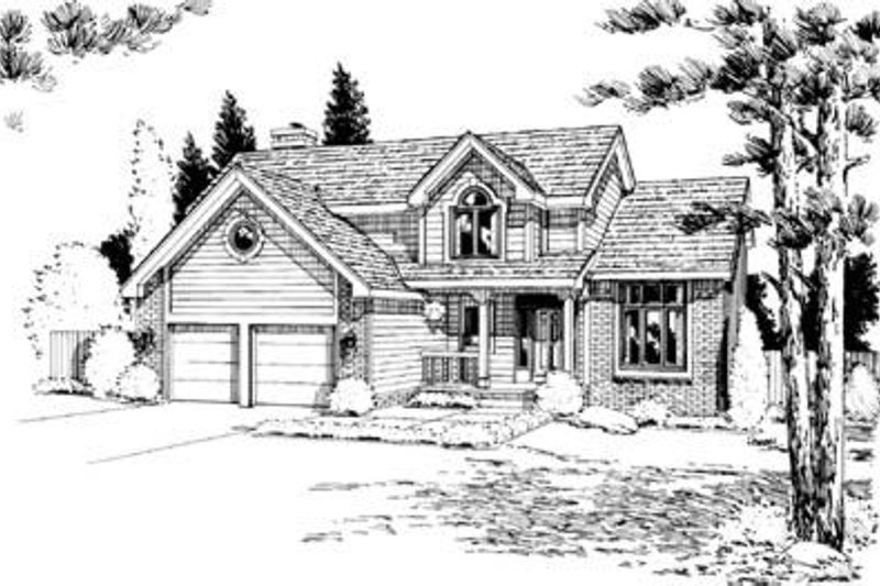 Architectural House Design - Traditional Exterior - Front Elevation Plan #20-768