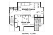 Country Style House Plan - 1 Beds 1 Baths 450 Sq/Ft Plan #116-229 Floor Plan - Upper Floor Plan