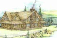 Home Plan - Log Exterior - Front Elevation Plan #117-101