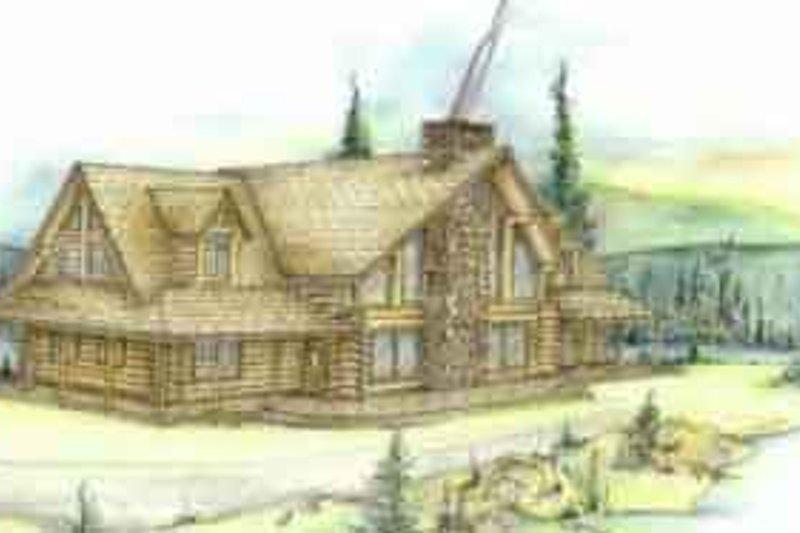 Dream House Plan - Log Exterior - Front Elevation Plan #117-101