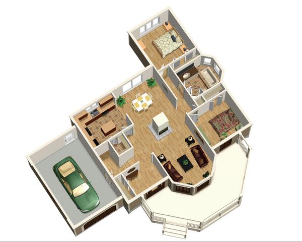 Country Floor Plan - Main Floor Plan #25-4652