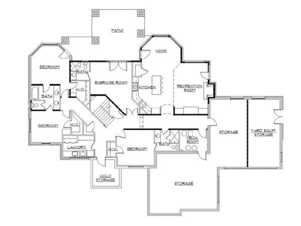 Home Plan - European Floor Plan - Upper Floor Plan #5-399