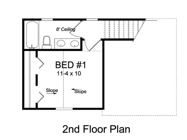 Cottage Floor Plan - Upper Floor Plan Plan #513-2180