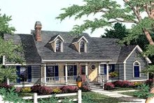 Dream House Plan - Country Exterior - Front Elevation Plan #406-238