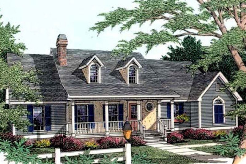 Country Exterior - Front Elevation Plan #406-238