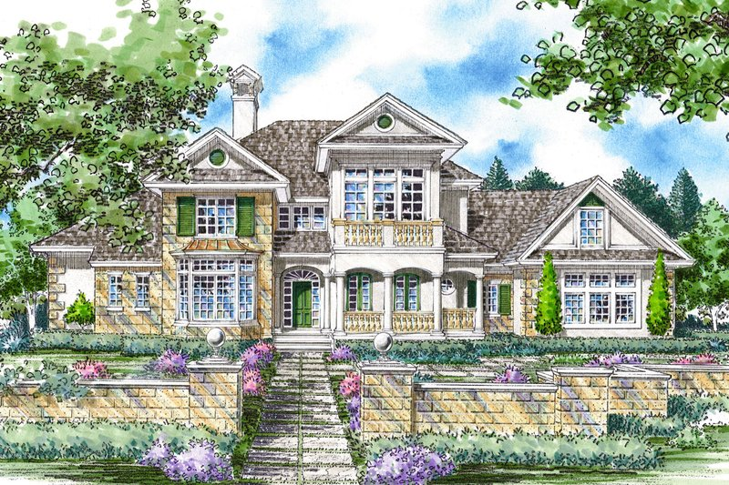 Home Plan - Mediterranean Exterior - Front Elevation Plan #930-262