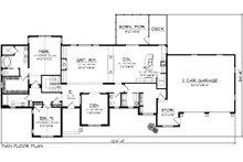 Ranch Floor Plan - Main Floor Plan Plan #70-1140
