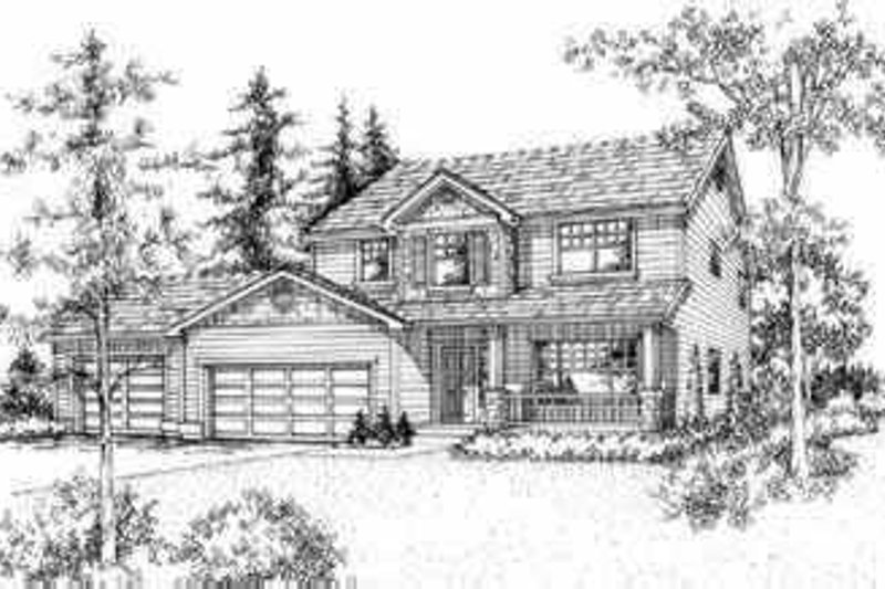 Traditional Style House Plan - 4 Beds 2.5 Baths 2488 Sq/Ft Plan #78-103 Exterior - Front Elevation