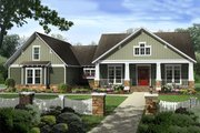 Craftsman Style House Plan - 4 Beds 2.5 Baths 2199 Sq/Ft Plan #21-309 Exterior - Front Elevation