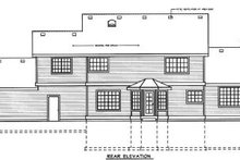 Home Plan - Country Exterior - Rear Elevation Plan #100-219