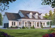 Southern Style House Plan - 4 Beds 3.5 Baths 3072 Sq/Ft Plan #20-254 Exterior - Front Elevation