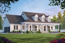 Home Plan - Southern Exterior - Front Elevation Plan #20-254