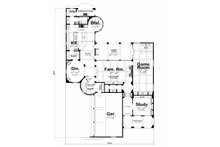 European Floor Plan - Main Floor Plan Plan #20-2171