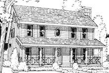 Farmhouse Exterior - Front Elevation Plan #20-750