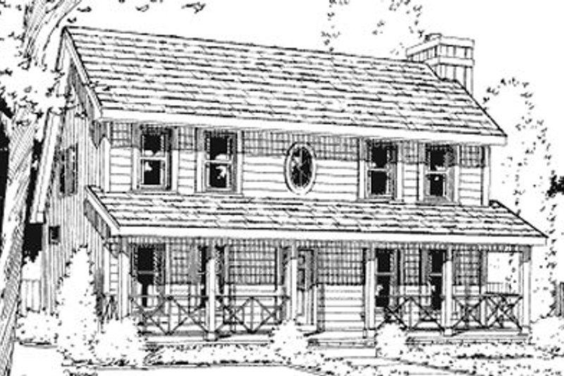 Home Plan - Farmhouse Exterior - Front Elevation Plan #20-750