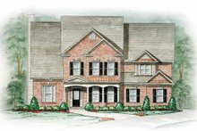 Southern Exterior - Front Elevation Plan #54-158