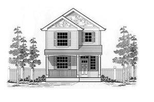 Cottage Exterior - Front Elevation Plan #53-127