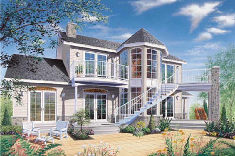 Country Style House Plan - 3 Beds 2.5 Baths 1953 Sq/Ft Plan #23-251 Exterior - Front Elevation