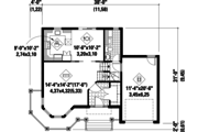 Victorian Style House Plan - 3 Beds 1 Baths 1596 Sq/Ft Plan #25-4708 Floor Plan - Main Floor Plan