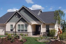 Home Plan - Front View - 2000 square foot Craftsman home
